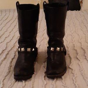 RARE Frye harness stud boots
